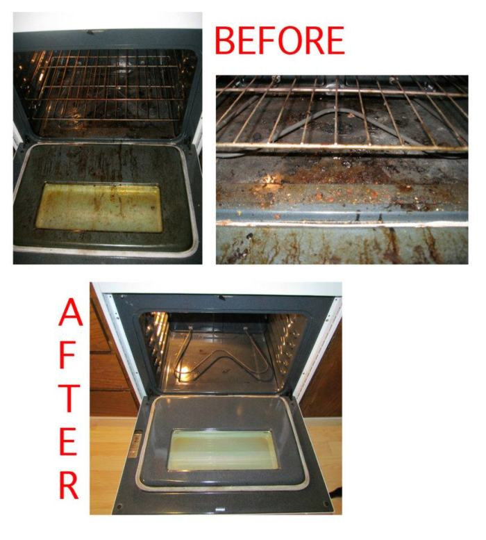 Picture oven before and after