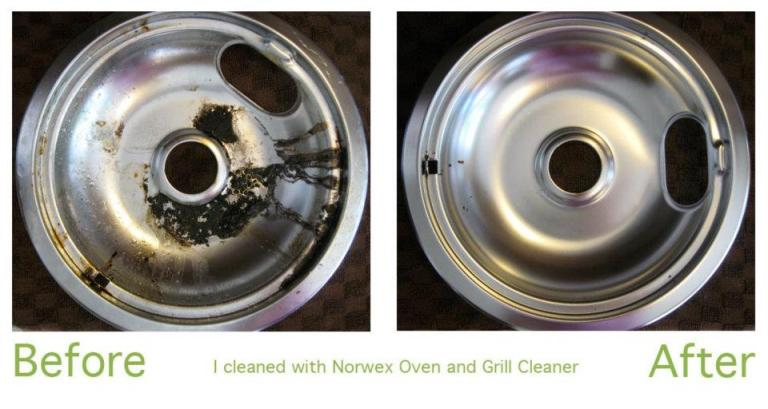 Stovetop protector before and after